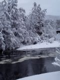 The River Spey with snow 2010
